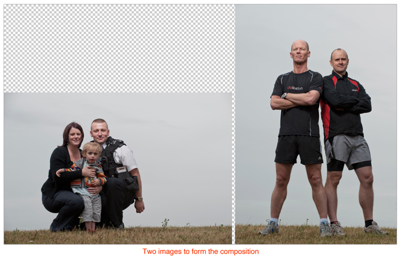how to put two pictures side by side in photoshop