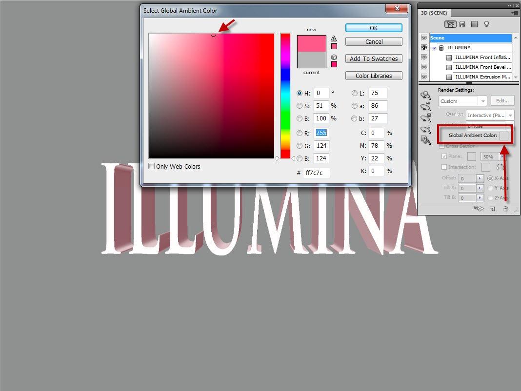 Lighting a 3D Model in Photoshop CS5 - TipSquirrel
