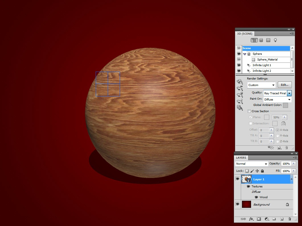 Working with 3D Materials in Photoshop CS5 - TipSquirrel