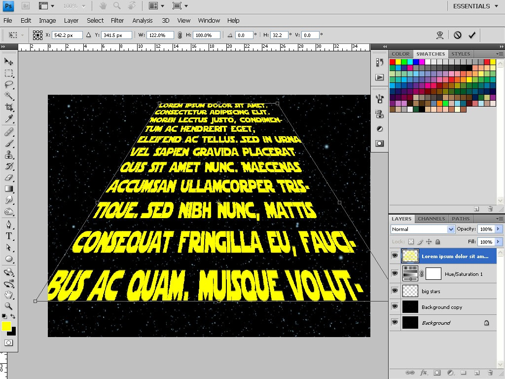 Star Wars Text and Star Field with Photoshop - TipSquirrel