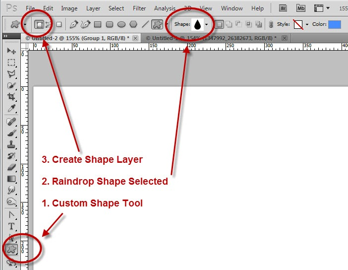Drawing Lines With Photo Cs : Editing shapes in photoshop tipsquirrel