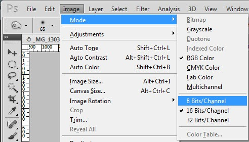 Solving Common Photoshop Problems–Greyed out Filters