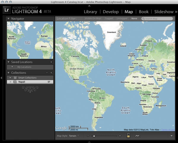 Lightroom 4 Beta Map Module