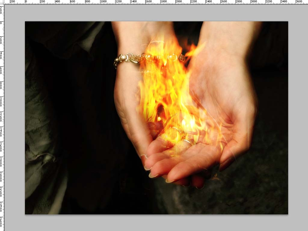 Putting Fire in Your Hands with Photoshop - TipSquirrel