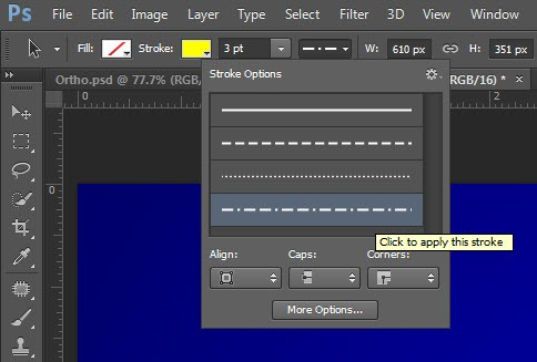 Creating Dashed and Dotted Lines in Photoshop - TipSquirrel