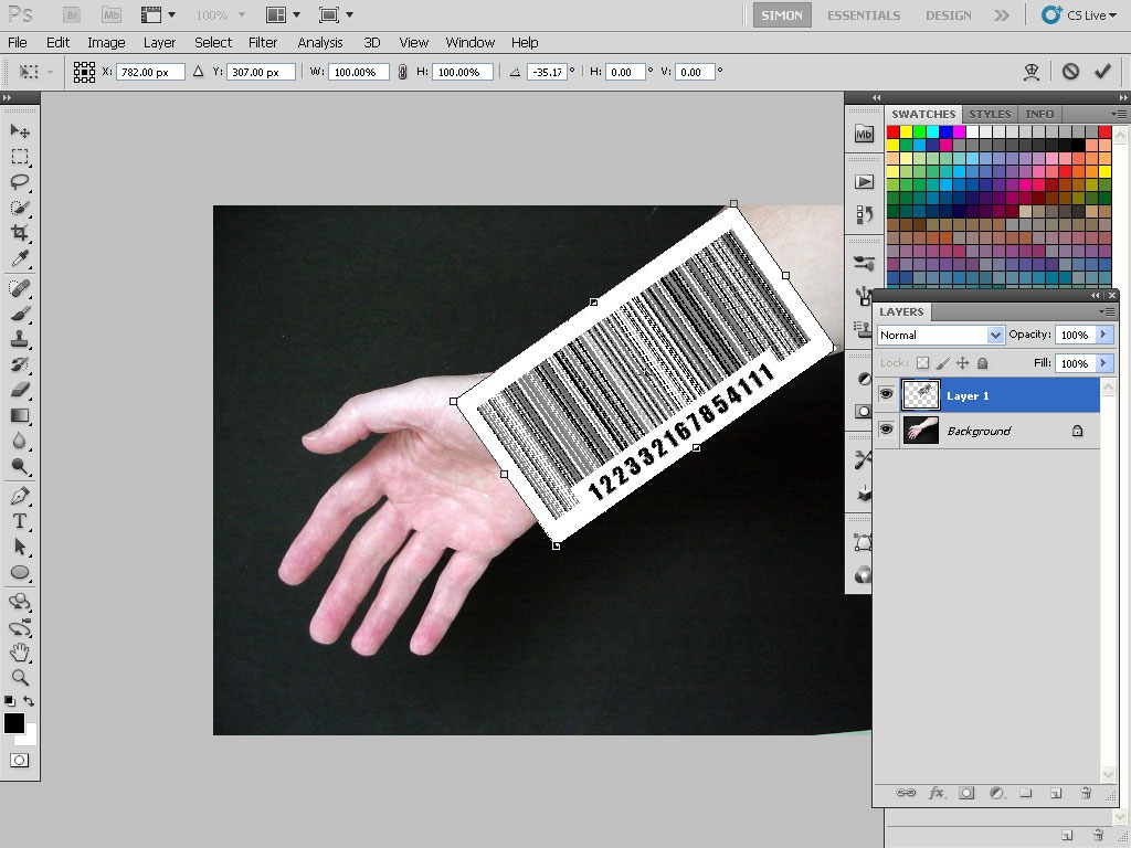 Give Someone a Barcode Tattoo With Photoshop - TipSquirrel
