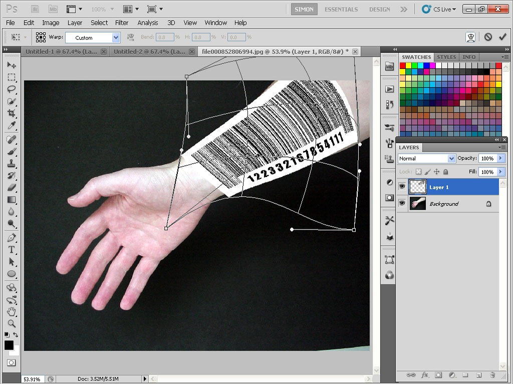 Give someone a barcode tattoo with photoshop tipsquirrel step9 baditri Choice Image