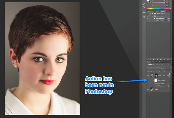 Action in Photoshop CS6