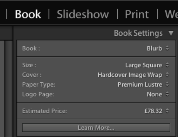 ebook settings