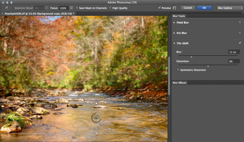 Tilt Shift Settings Photoshop CS6