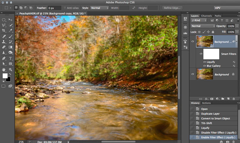 Blur Gallery Liquify Smart Filter - Photoshop CS6 ©Dan Moughamian