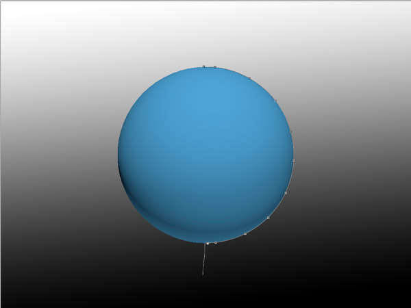 Freeform Pen Tool Ball Trace
