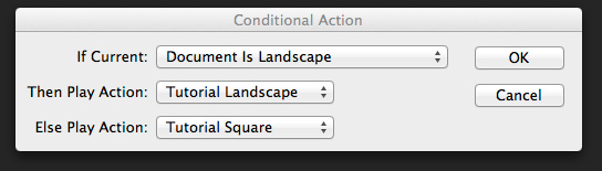 Conditional Actions Dialog