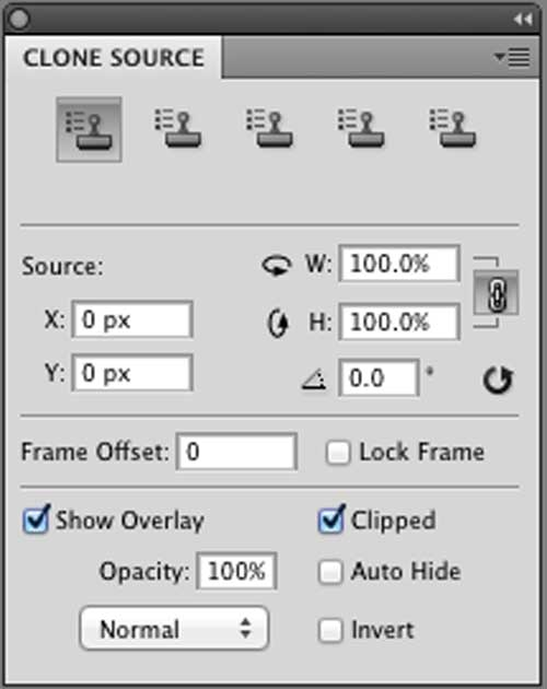 Photoshop Clone Source Panel