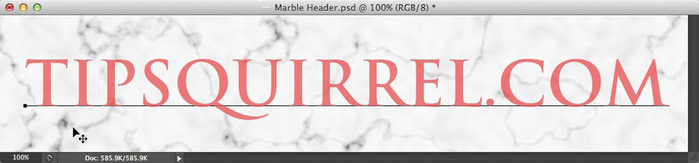 Image showing the Move tool being used to reposition text in Photoshop
