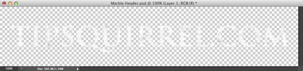 Image showing a layer based on text created from a selection in Photoshop