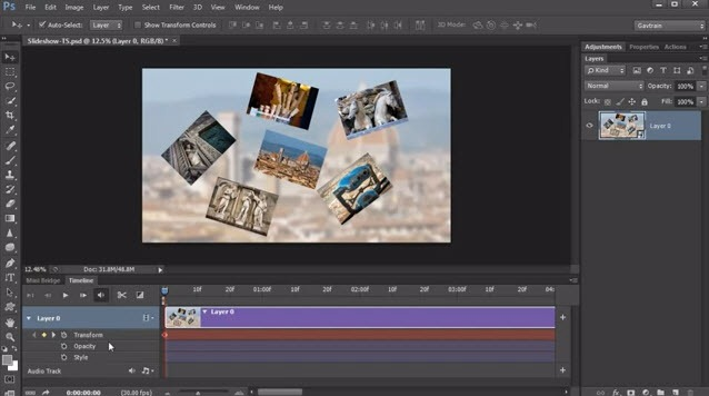 Dynamic Slideshows with Photoshop CS6 - Gavin Hoey | TipSquirrel