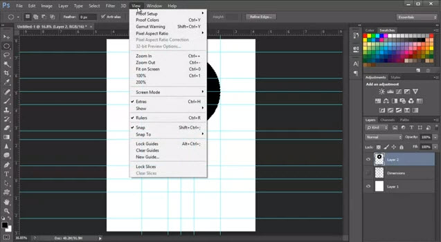 Photoshop Guides and Rulers