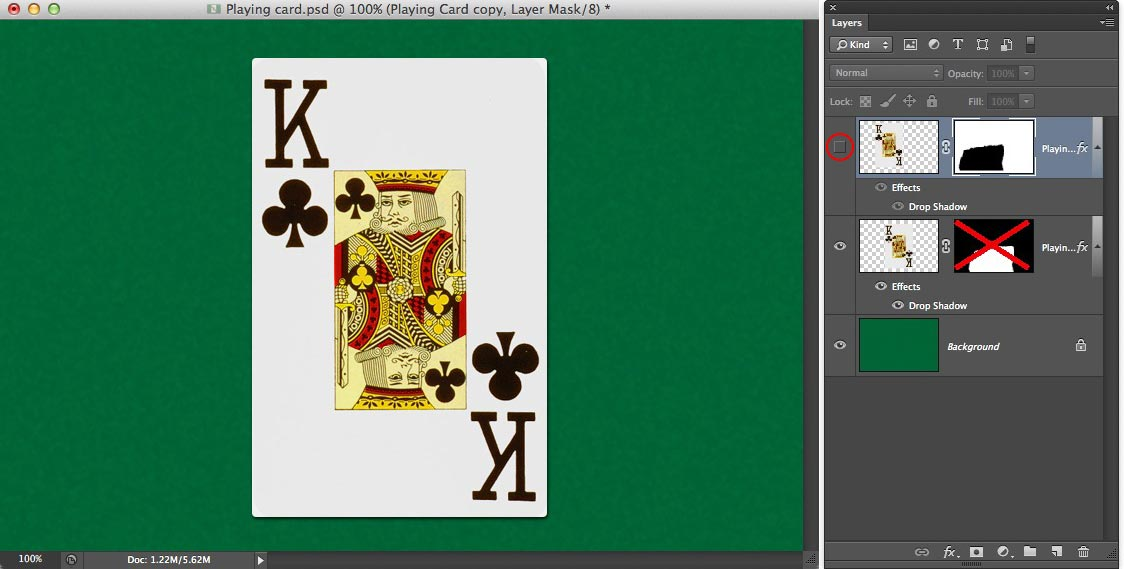 Image showing the playing card mended