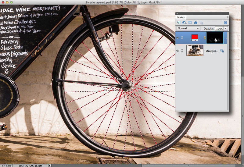 Creating the final selection in Photoshop Elements 11