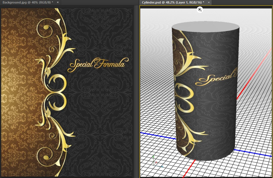 Wrap a 2D Image onto a 3D Cylinder in Photoshop - Mike Hoffman