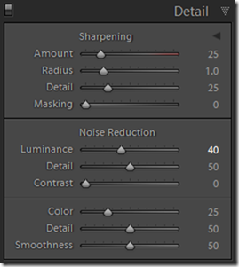Lightroom Default Develop Settings