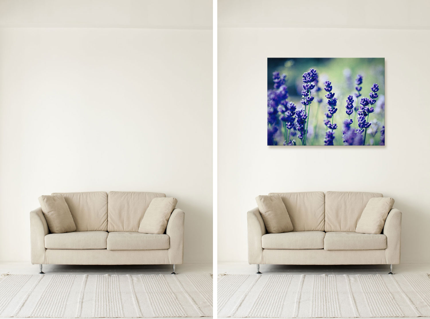 Create A Template To Display Your Image As A Mounted Canvas In