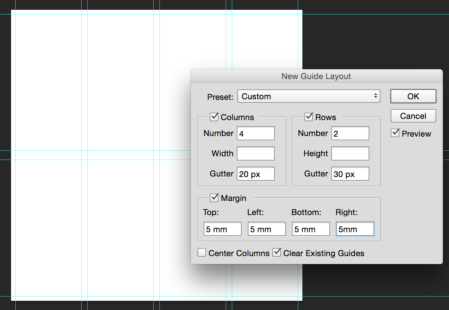 New Guide Layout In Photoshop Cc 2014 Tipsquirrel