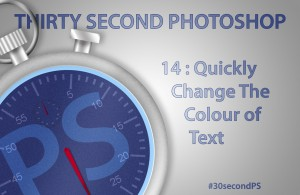 Quickly Change the Colour of Text in Photoshop