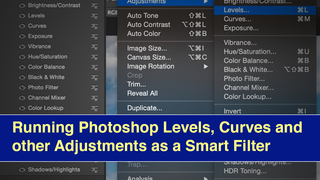 Running Photoshop Levels, Curves and other Adjustments as a