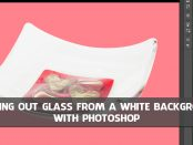 cut out glass with photoshop