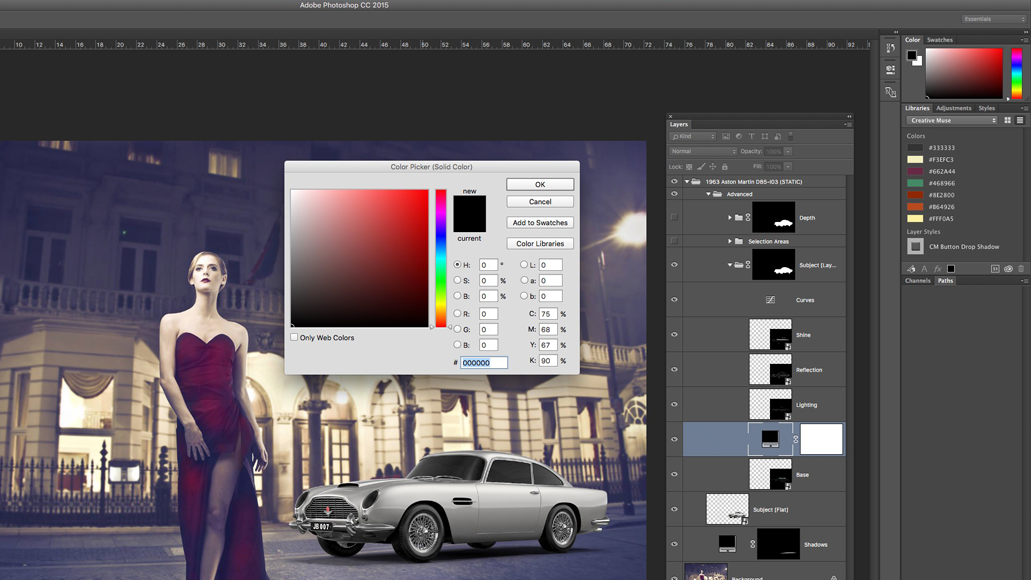 Create a solid colour overlay