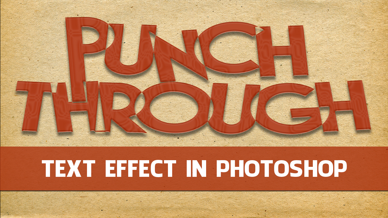 Cutout or Punched out Text Effect in Photoshop Elements