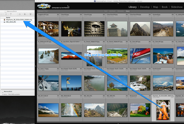 Drag and Drop a DNG with Lightroom Edits