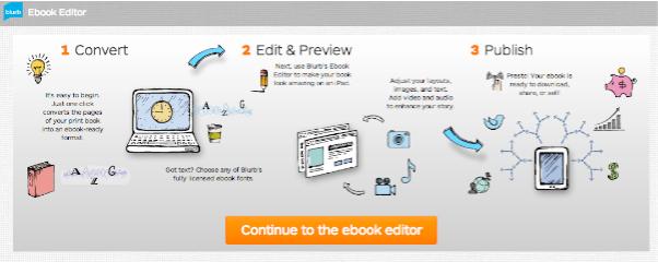 ebook creation page