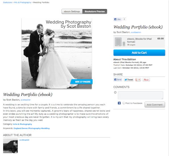 Blurb Bookstore preview