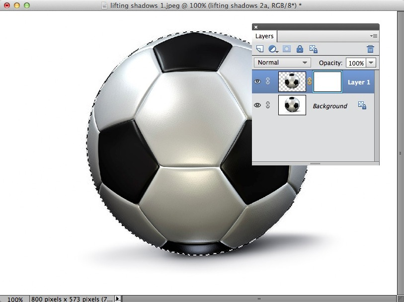 An image showing a layer mask attached to the main image