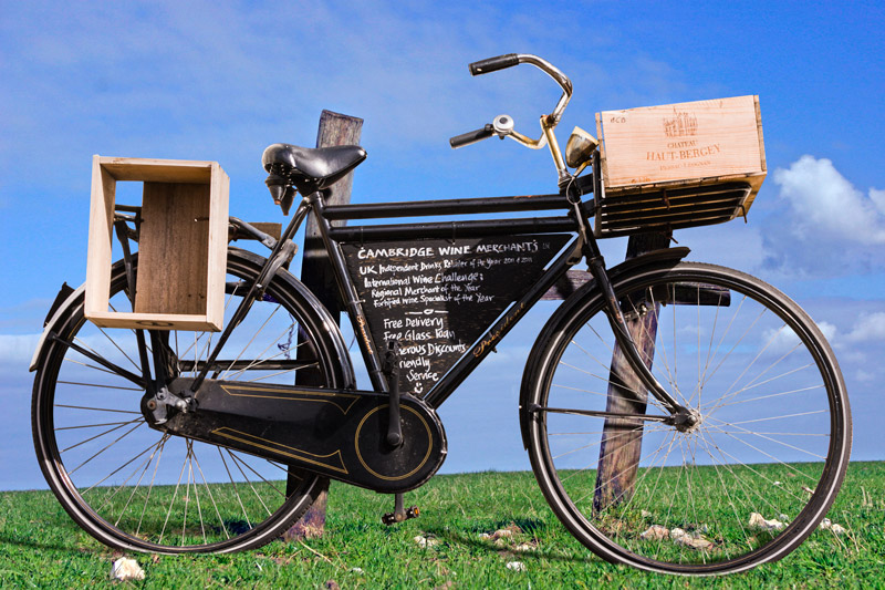 Final image showing the bicycle extracted from its original background and placed into another image