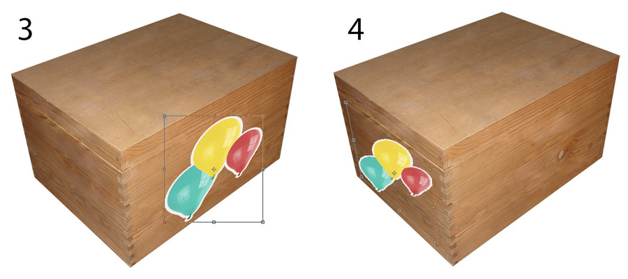 An image showing the problems when trying to alter the perspective of a previously transformed layer