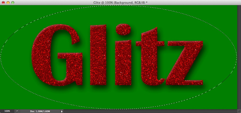 Image showing a selection being made to create a darkened border