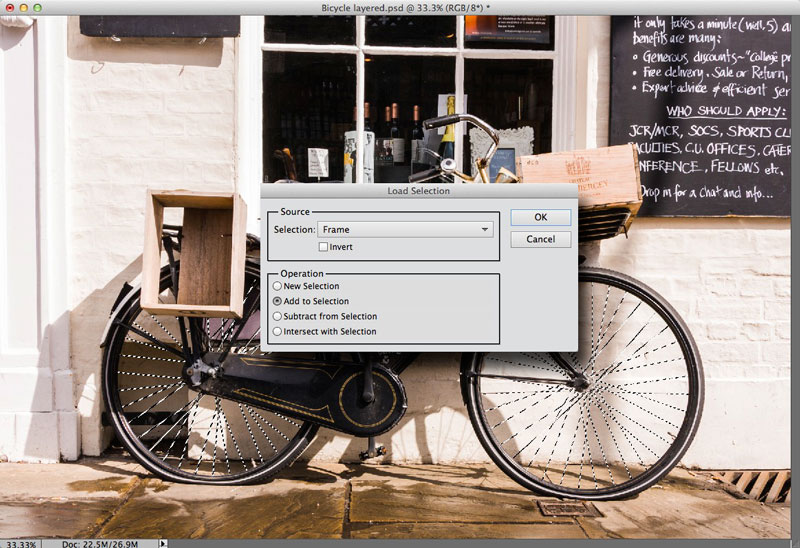 Merging selections in Photoshop Elements 11