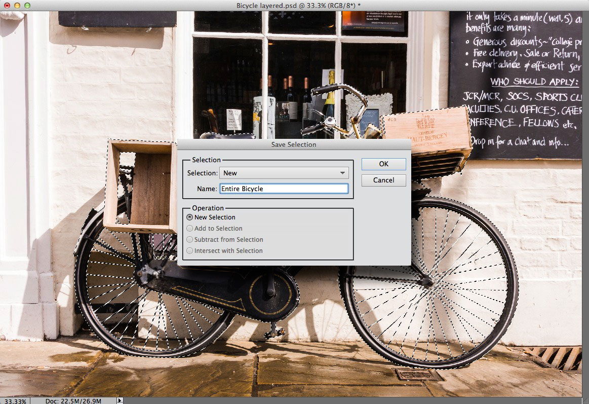 Saving a selection in Photoshop Elements 11