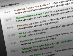 Update ACR and Lightroom from Adobe Labs