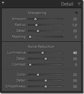 Lightroom Default Develop Settings