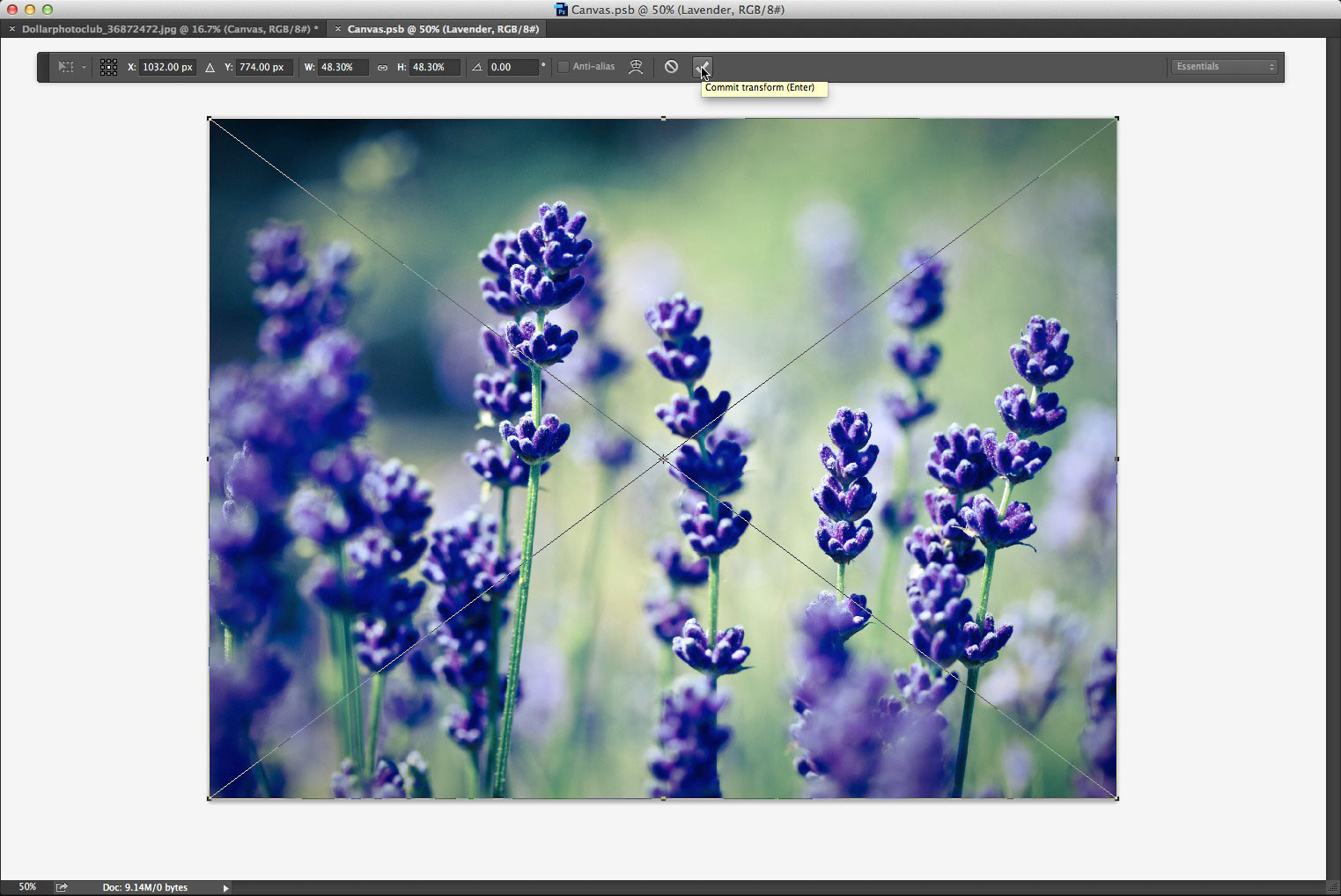 Replacing the image in the smart object