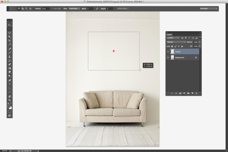 Creating the frame shape outline