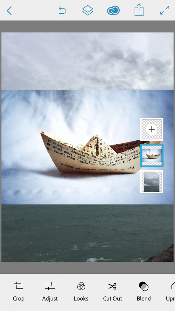 A paper boat image for the foreground