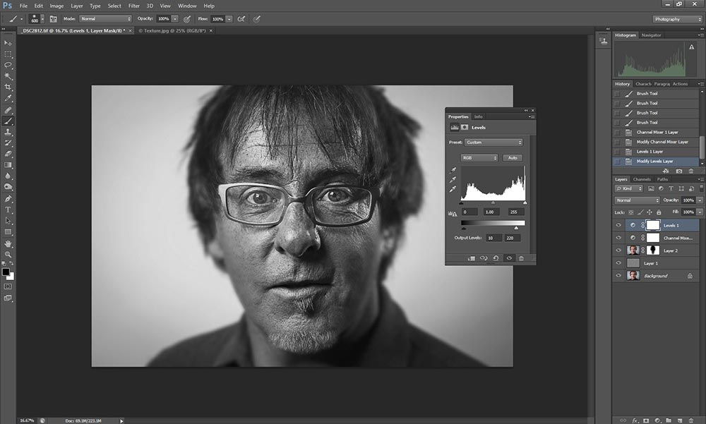 Wet plate collodion effect in Photoshop tutorial