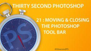 30Sec Photoshop Tool Bar